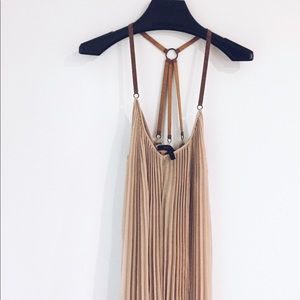 BCBG maxi dress   with leather strap
